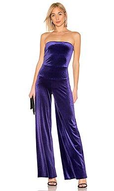 X REVOLVE Velvet Strapless Jumpsuit                                             Norma Kamali