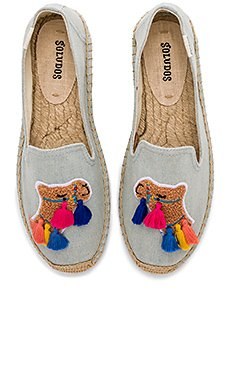 Tassel Camel Smoking Slipper                                             Soludos