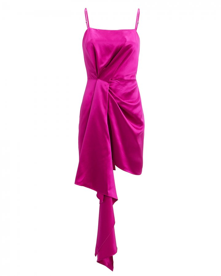 Cascade Pink Satin Dress