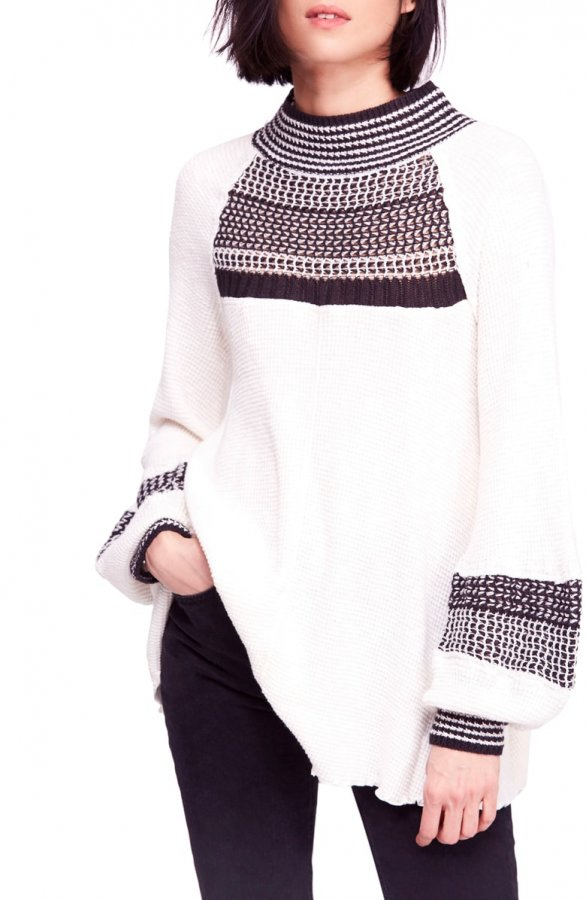 Snow Day Balloon Sleeve Sweater