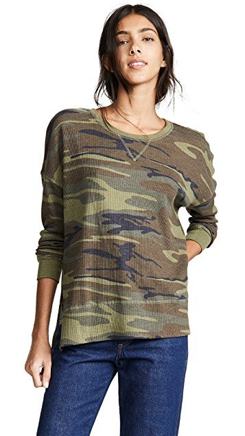 Emerson Camo Thermal Pullover