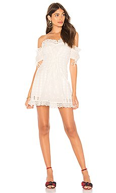 Anabelle Eyelet Lace Up Dress                                             For Love & Lemons