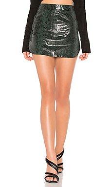Simon Leather Mini Skirt                                             Karina Grimaldi