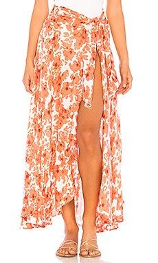 Azure Wrap Skirt                                             Tiare Hawaii