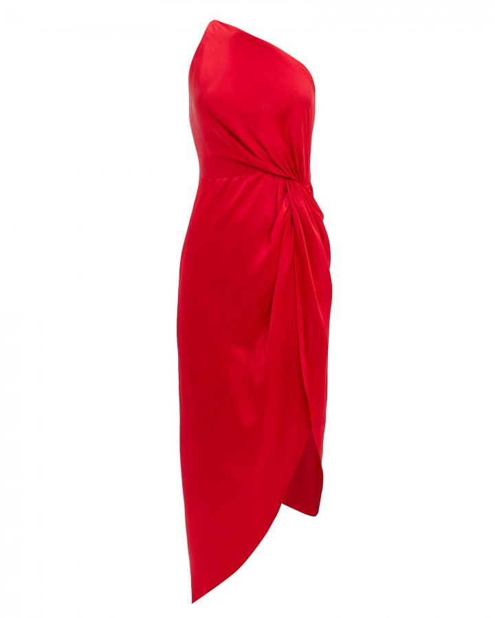 Twist Knot One Shoulder Dress