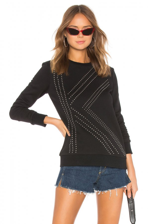 K Studded Sweater