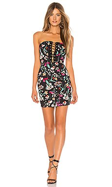 Kendrah Floral Lace Up Tube Dress                                             by the way.