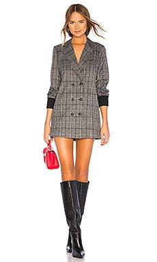 Rib Cuff Blazer Dress                                             Marled x Olivia Culpo