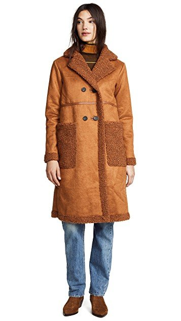 Clothilde Faux Shearling Car Coat