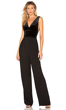 BLACK Liquid Velour Jumpsuit                                             Bobi