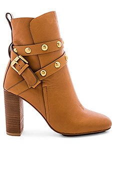 Studded Ankle Strap Heeled Bootie                                             See By Chloe
