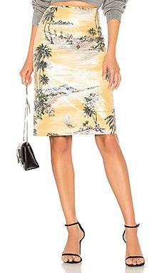 Hawaiian Shine Pencil Skirt                                             Le Superbe