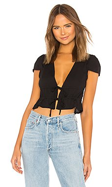 Sara Tie Front Drawstring Top                                             About Us