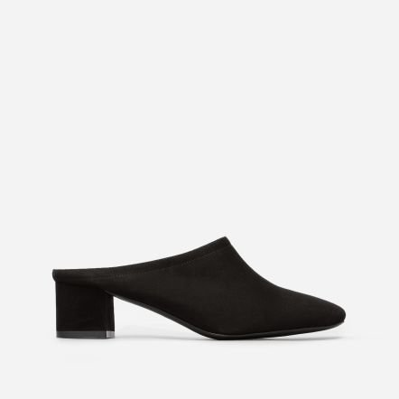 The Day Heel Mule - Black Suede