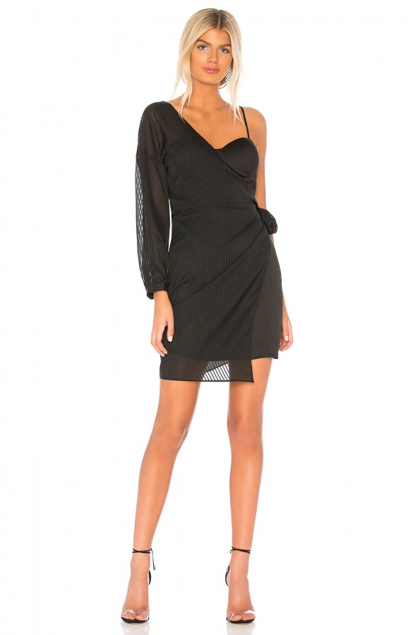 Tie Side One Shoulder Dress