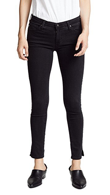 Ankle Skinny Jeans with Slits