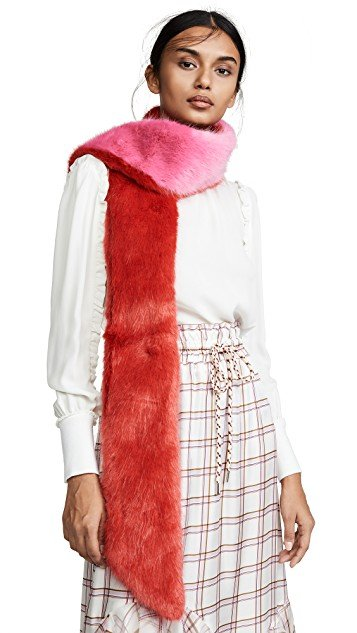 Long & Skinny Faux Fur Scarf