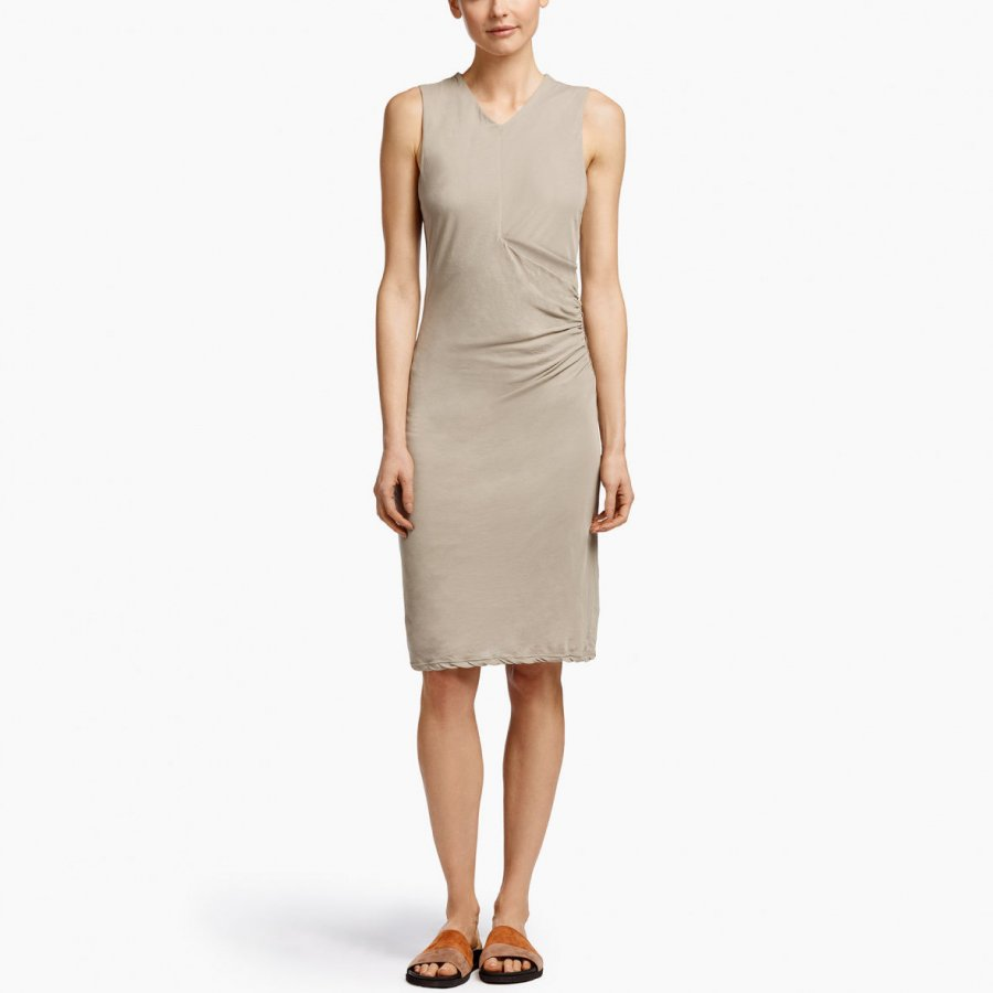 SIDE DRAPE JERSEY DRESS