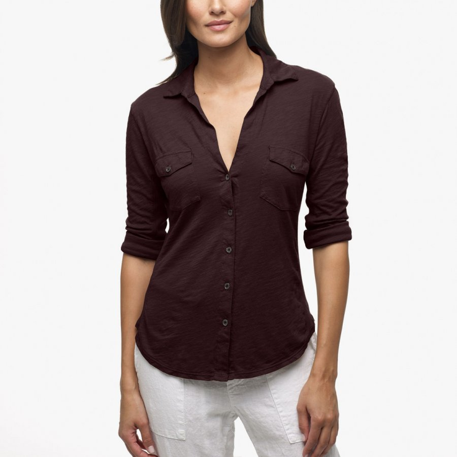 SHEER SLUB SIDE PANEL SHIRT