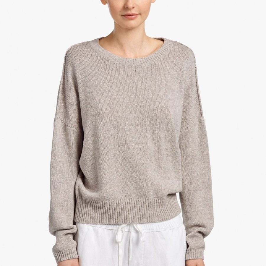 COTTON CREPE SWEATER