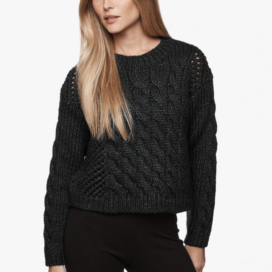 STONE WASH WOOL SWEATER