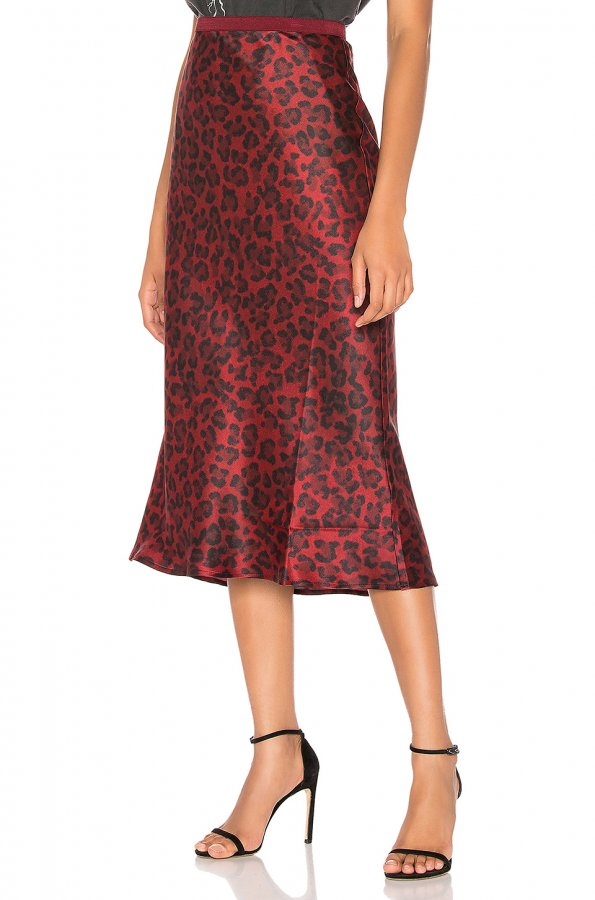 Bar Silk Midi Skirt