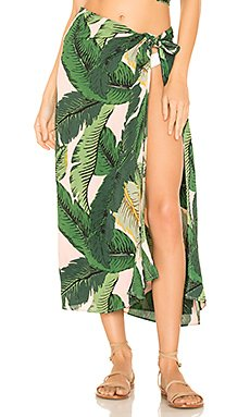 x REVOLVE Palm Sarong Cover Up                                             BEACH RIOT