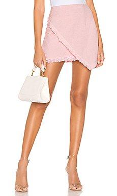 Savana Frayed Hem Skirt                                             superdown