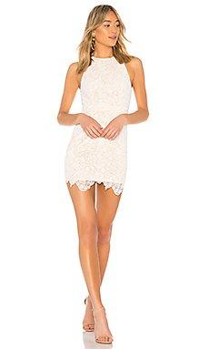 Patty High Neck Crochet Dress                                             superdown