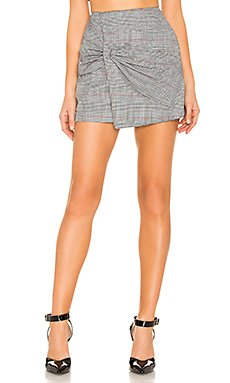Eliza Knot Front Mini Skirt                                             by the way.