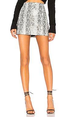 Elana Leather Mini Skirt                                             Alice + Olivia