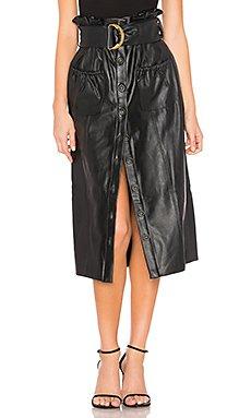 Jenna Faux Leather Skirt                                             Tularosa