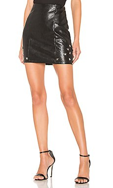 Nikki Faux Leather Skirt                                             by the way.