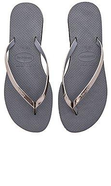 You Metallic Flip Flop                                             Havaianas