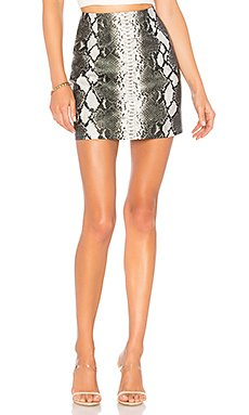Cassandra Snake Mini Skirt                                             superdown