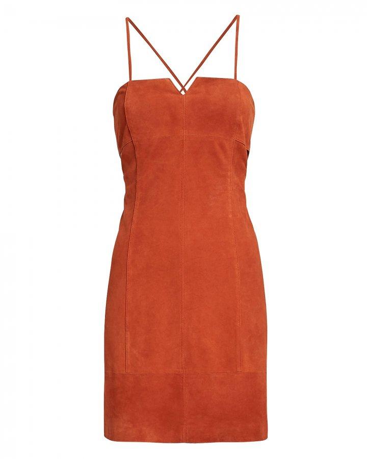 Marissa Suede Mini Dress