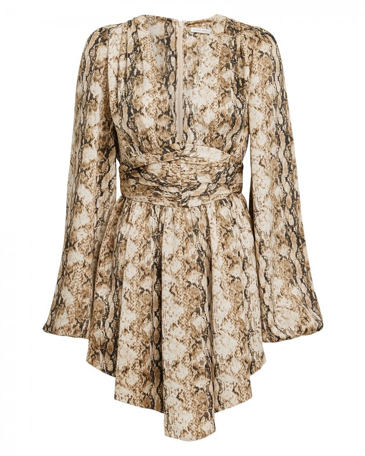 Orzora Snake Print Mini Dress