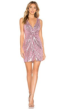 Becky Sequin Knot Dress                                             About Us