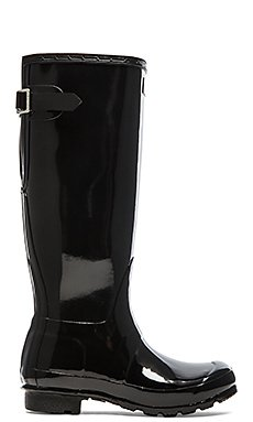 Original Back Adjustable Gloss Rain Boot                                             Hunter