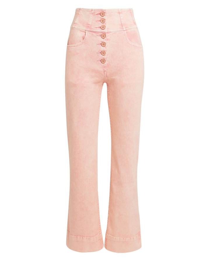 Ellis High Waisted Pink Jeans