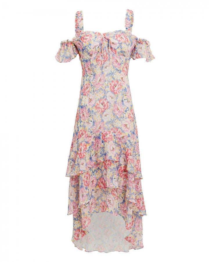 Sophia Printed High-Low Dress