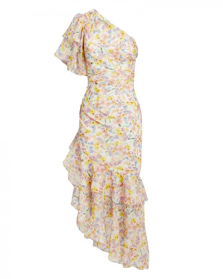 Clayton One Shoulder Floral Dress