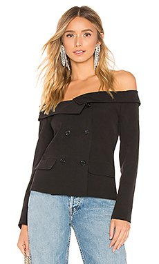 Tyler Off Shoulder Blazer Top                                             by the way.