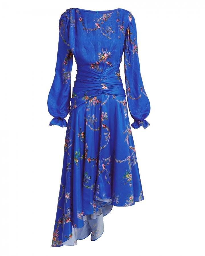 Diana Blue Floral Dress