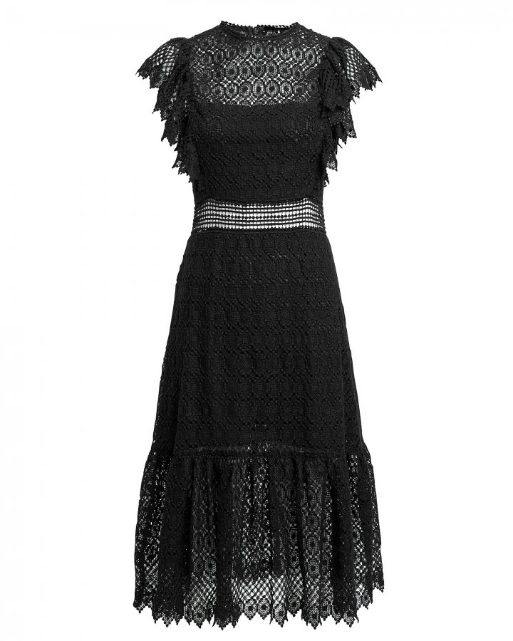 Crochet Black Dress