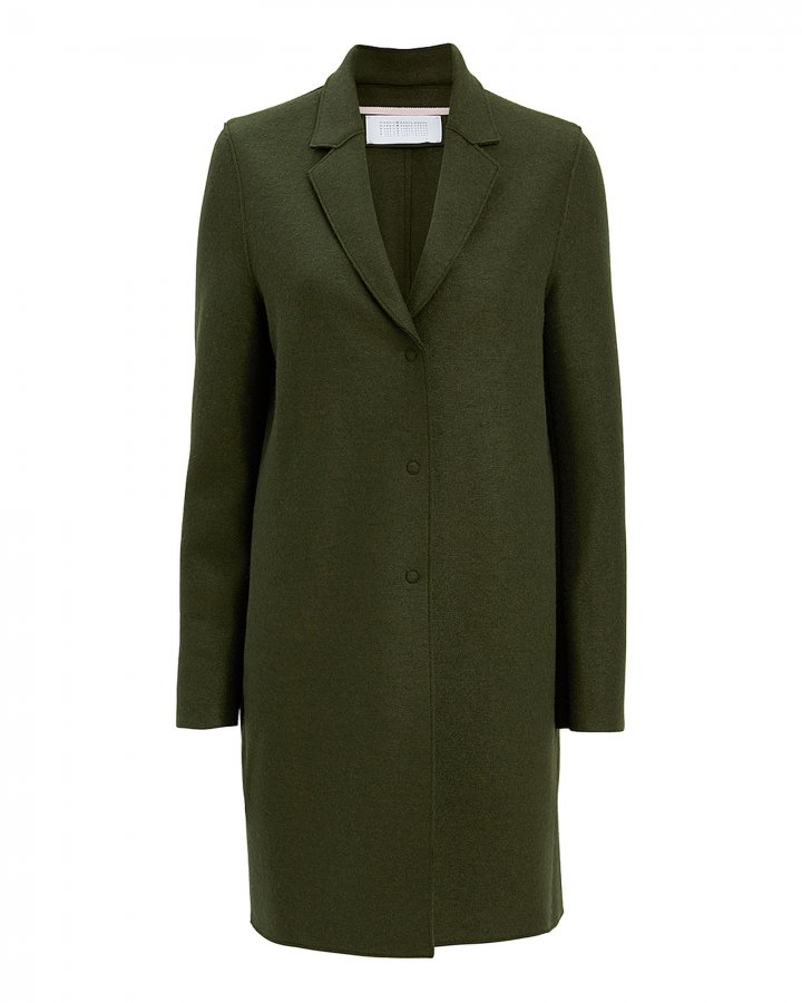Olive Cocoon Coat