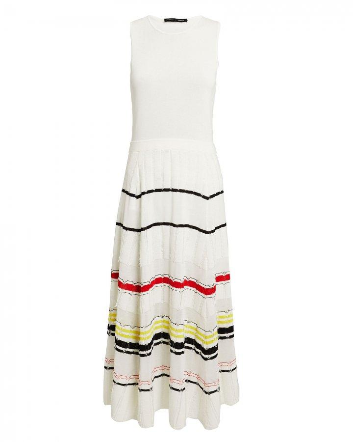 Striped Skirt Midi Dress