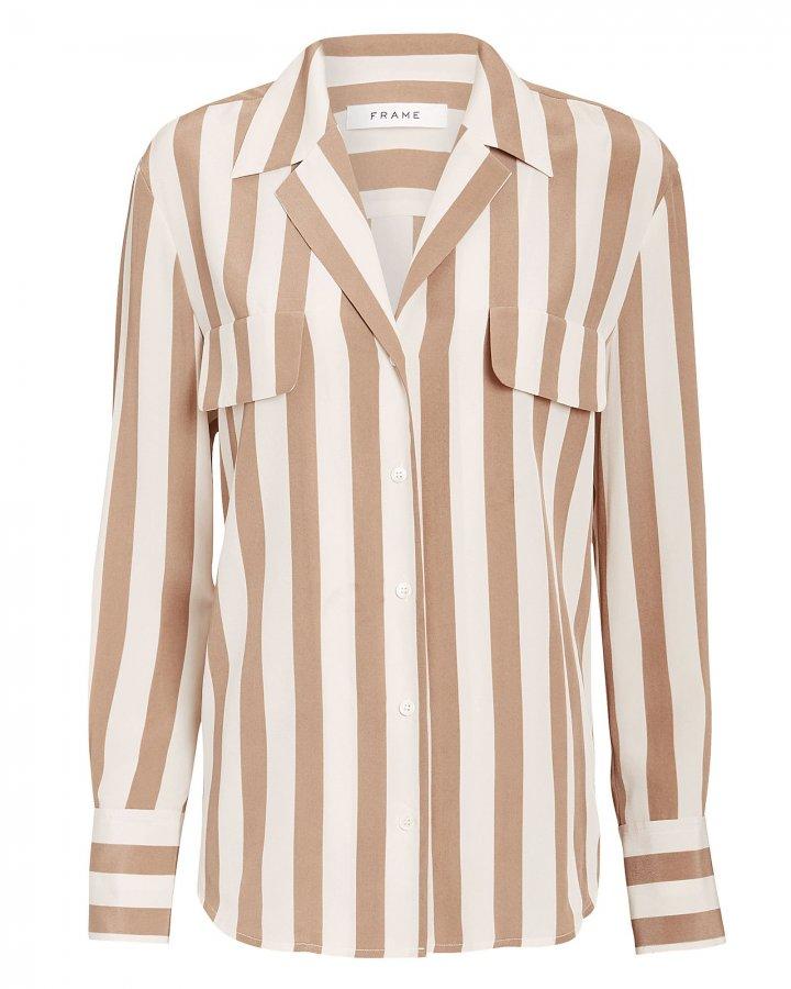 Pocket Striped Blouse
