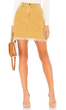 Empire Cord Mini Skirt                                             MINKPINK