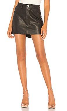 Vanguard Leather Skirt                                             One Teaspoon